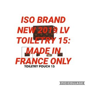 ISO: NEW 2019 LV TOILETRY 15 MADE IN FRANCE ONLY